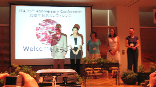IFA(国際アロマセラピスト連盟)の25周年日本代表研究発表にてアロマセラピー研究会講師の辻先生の発表